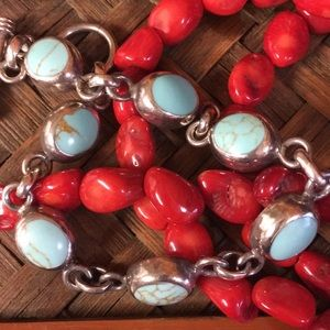Jewelry - Vintage 🇲🇽 Turquoise Sterling Silver Bracelet